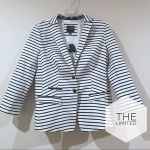 NWT! The Limited Navy Stripe Blazer Medium